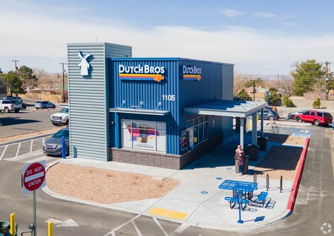 Avison Young brokers $2.415 million ground lease sale of a new Dutch Bros Coffee prototype building in Albuquerque, NM