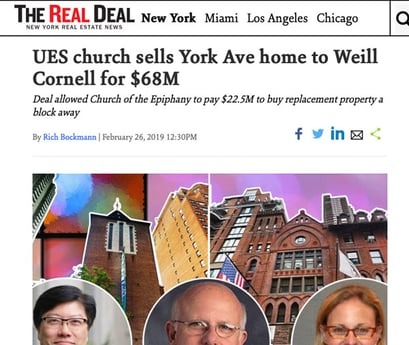 UES church sells York Ave home to Weill Cornell for $68M