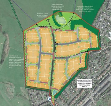 Proposal for 250 new homes on former abattoir site approved