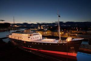 Royal Yacht Britannia Opens Luxury 'Boatique' Hotel