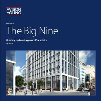 Avison Young's latest Big Nine office report notes above average take-up despite market uncertainty
