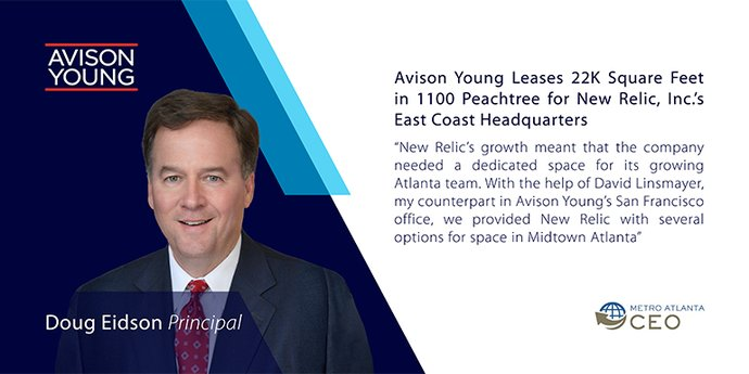 Avison Young Leases 22K Square Feet in 1100 Peachtree for New Relic, Inc.'s East Coast Headquarters