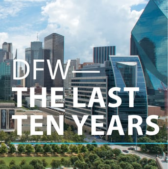 A visual comparison of DFW growth over the decade.