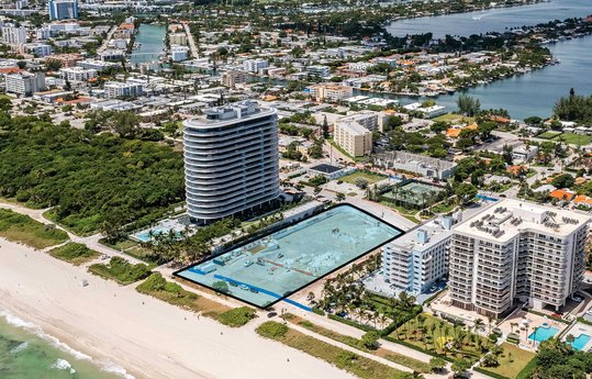 Marketing for the sale of Champlain Towers South in Surfside, Florida, officially launches