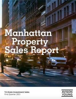 PRESS RELEASE: Manhattan investment sales market saw 34 transactions totaling $1 billion in 1Q21