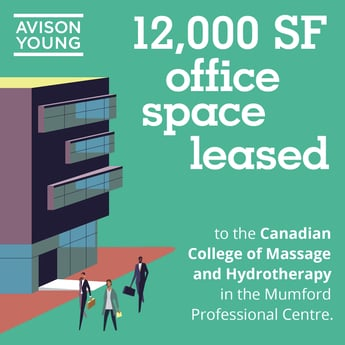 Avison Young successfully provides leasing services for The Canadian College of Massage and Hydrotherapy