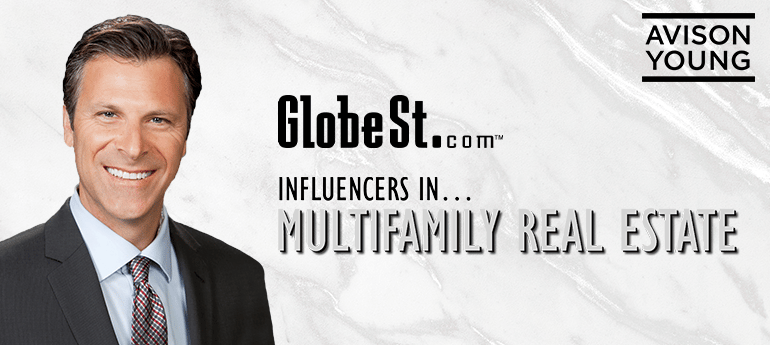 """Peter Sherman named by GlobeSt.com as an """"Influencer in Multifamily Real Estate 2021"""""""