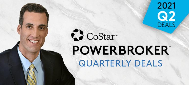 Christopher Smith Wins CoStar's Q2 2021 Power Broker Quarterly Deals Award